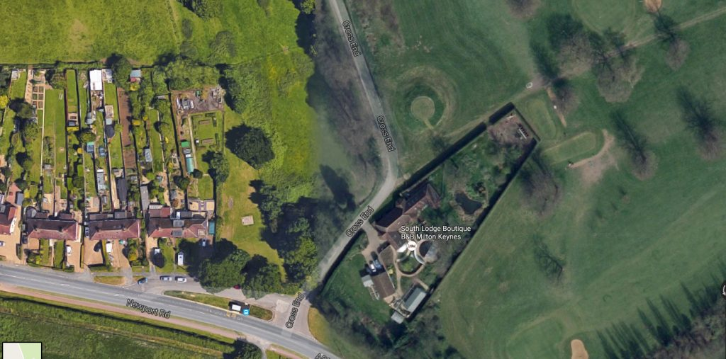 Google view of the castle site.